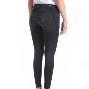 "KUT jeans ""Connie"" BNWT faded black jeans size 18 ankle skinny raw hem"